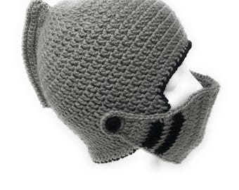 Handmade Toddler Knight Helmet, Toddler Knight Helmet, Toddler Knight Beanie