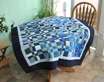 Beautiful blue quilt