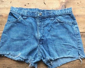 """Vintage denim shorts  """" his  for her  """""""