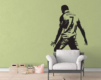 Football Soccer Player Superstar Sticker Vinyl Wall Decal Home Decorate Large Wall Sticker 0988 45W x 58H