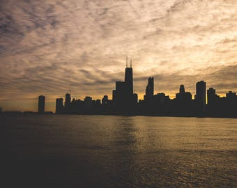 Chicago Moody Sunset