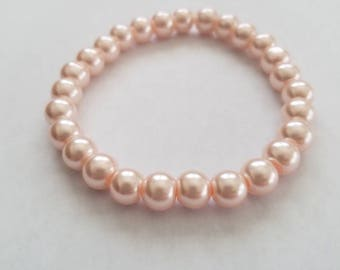 Pink Bead Stretch Bracelet