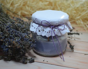 "Аromatiс candle in a jar ""lavender"""