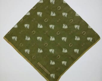 Vintage 90s Pg by Paolo Gucci Handky Bandana  Horse Full Print