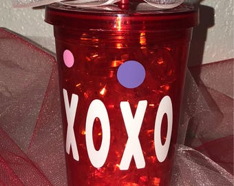 Valentines Day Tumbler, Personalized Tumbler,  XoXo Tumbler, Be Mine Tumbler