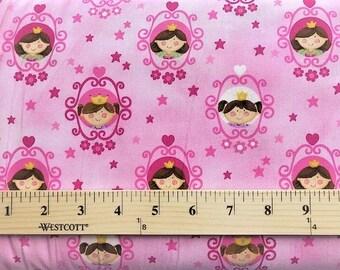 Little Princess fabric, Northcott Studio, Pink fabric, Girls, Childrens