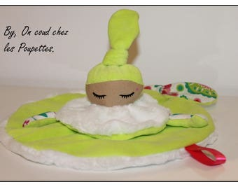 Baby - lime green baby blanket