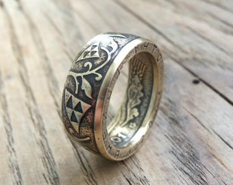 Ukrainian Coin Ring - Rings from Coins -  Ukrainian jewelry - coin ring Ukraine - Ukrainian souvenir - Ukraine 1 Hryvnia Coin Ring