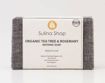 Organic Tea Tree & Rosemary Soap