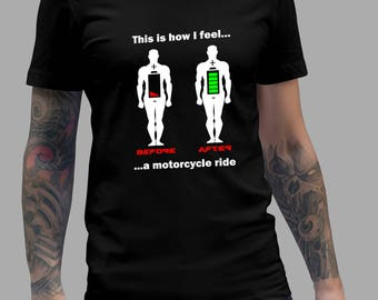 Funny Before and After Riding a Bike Shirt #R