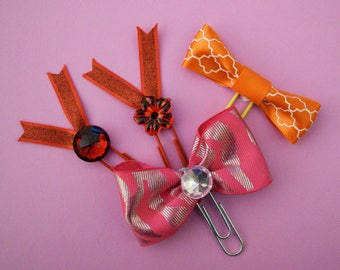 Handmade Paper clips/cute bookmarks/ embellishment/planner accessories.