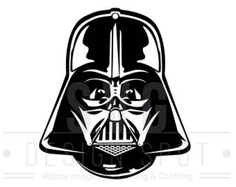 Darth Vader Head Front SVG, Dxf, Eps, Png - Star Wars Svg Files, Star Wars Vector Graphic, Darth Vader Head Front SVG File, Instant Download