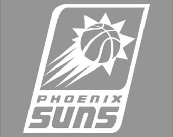 Phoenix Suns White Vinyl Decal