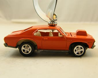 Nova SS - FREE SHIPPING - Valentines Ornament - Opening Hood - 1972 - 72 Chevy a man cave or she shed must have