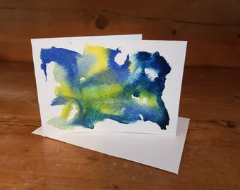 Hand painted Watercolour Card: Birthday, Anniversary, Thank you, Just Because....