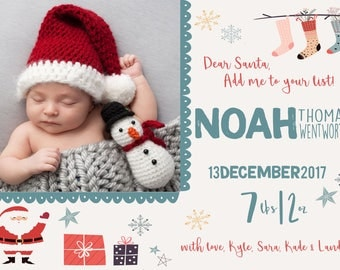 Christmas Birth Announcement