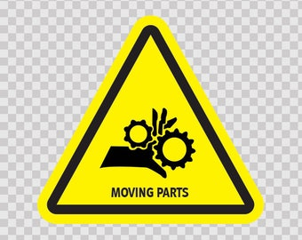 Decals Sticker safety sign Danger Machinery Moving Parts Symbol 14354
