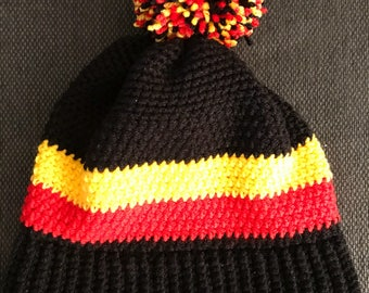 Football colour bobble hat
