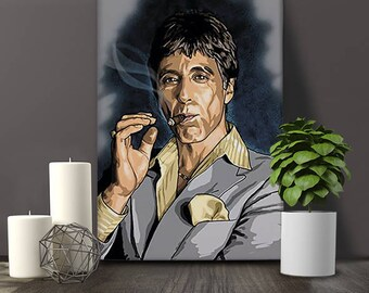 Al Pacino poster scarface poster movie poster print scarface poster movie gangster wall art pop art scarface art mafia film Al Pacino art