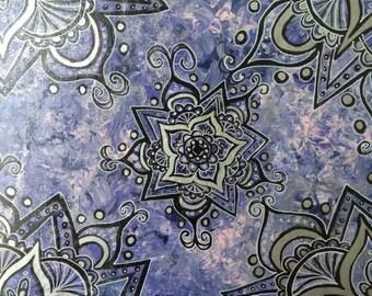 Purple Floral Mandala