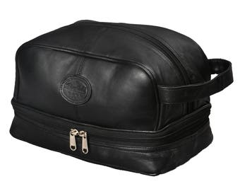 Leather Toiletry Bag Dopp Kit, Shaving Bag For Dad Gifts by Bayfield Bags, Best Gifts For Men