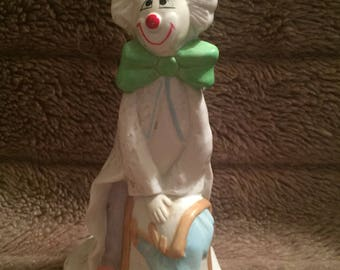 Vintage Porcelain Clown Figurine