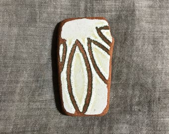 Pendant shaped sea pottery piece. Italian beach pottery. For jewelry making, beach lovers collection. Pendant Vintage natural craft supply.