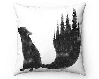 Fox Spun Polyester Square Pillow