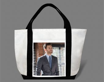 Dakota Johnson Jamie Dornan Canvas Tote Bag #0002