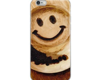 iPhone Case from Original Coffee Art, Smily Happy Face