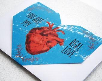 Printable No Glue Envelope for 10x15 cm postcard, DIY st. Valentine's Day Envelope Template, Printable Love Card