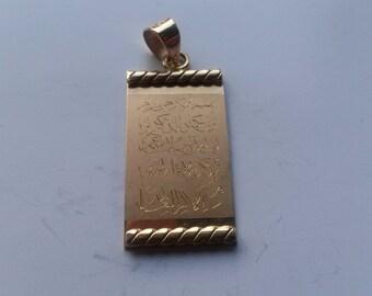 Beautiful 18 carat 750er pendant-engraved with Sura Wanyakat