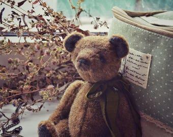 teddy bear author toy vintage retro
