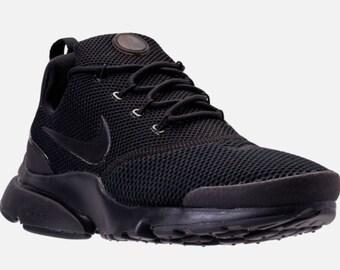 Custom swarovski crystal Nike Presto Fly black