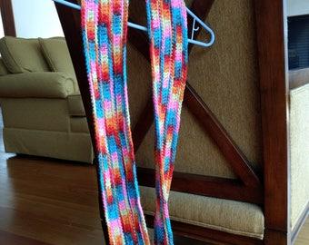 Rainbow ripple infinity scarf