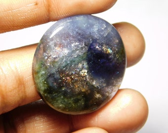Awesome quality Iolite sunstone Cabochons Natural Iolite Gemstone Natural Loose stone Gorgeous Loose Gemstone 60.70Cts, (34x34x5)mm.