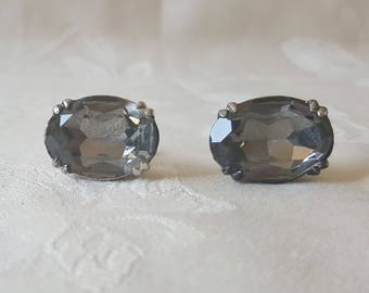 Vintage Swank Smokey Quartz Cuff Links