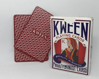 Feminist playing cards where women aren't outranked by men! Support gender equality in gaming // Gifts for Feminists // Educational