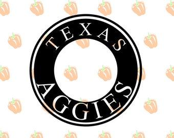 texas aggies monogram SVG file, tx aggies svg files for cricut machines, cricut files, silhouette files, sport logos, instant download svg