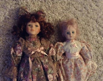 Two Porcelain  Dolls