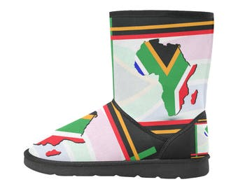 Southern Africa Custom High Top Snow Boots