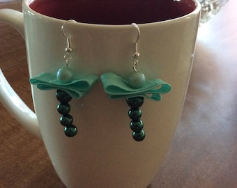 Ribbon wing Dragonfly earrings