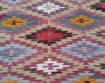 """Handmade kilim rug,290x170cm 114""""x67"""",Turkish kilim rug,Anatolian kilim rug,vintage kilim rug,tribal kilim rug, Handmade kilim rug"""