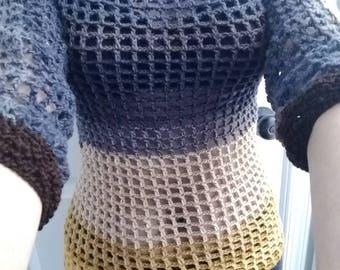 Blouse for women crocheted.