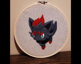 Pokemon Zorua Embroidery