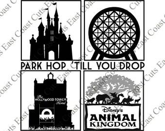 Disney Park Hop 'Till You Drop SVG/DXF/PNG