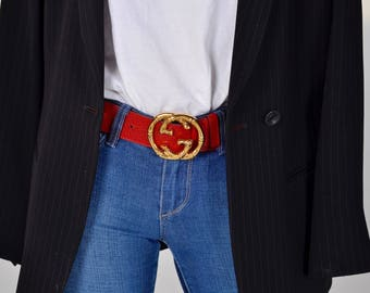 Gucci Belt with Bamboo Gold Hardware