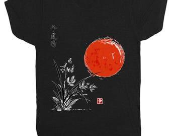 Chinese Japanese Peace New Year Movie Film Mens Black T Shirt