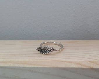 925 Sterling Silver Oxidize Leaf