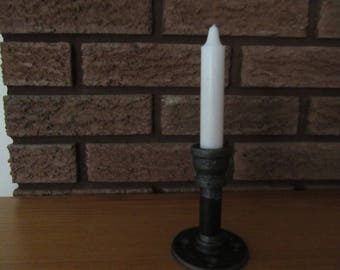 Candle Holder, Steampunk, Industrial, Pipe, #105